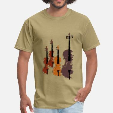 Music Quartet of bowed string instruments - Men's T-Shirt