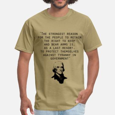 Thomas Jefferson Quotes thomas_jefferson_quote - Men's T-Shirt