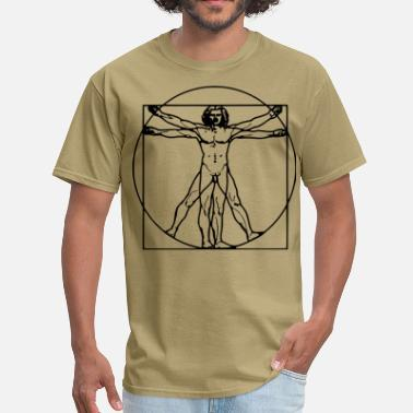 Da Vinci Vitruvian man - Men's T-Shirt