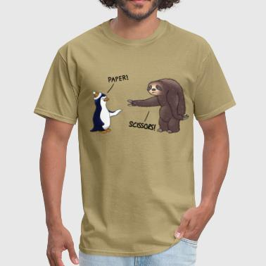 Funny Sloth Sloth and Penguin - Men's T-Shirt