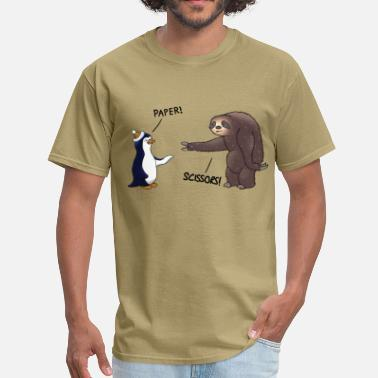 Sloth Animal Sloth and Penguin - Men's T-Shirt
