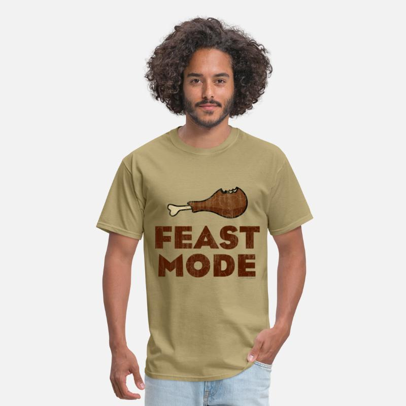 Thanksgiving T-Shirts - Feast Mode Funny Thanksgiving - Men's T-Shirt khaki