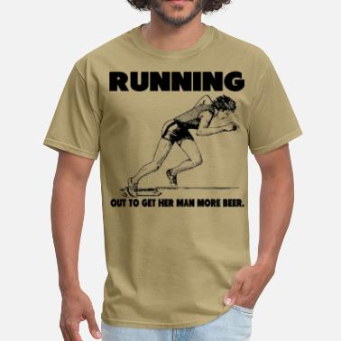 Will Run For Beer Beer Run - Men's T-Shirt