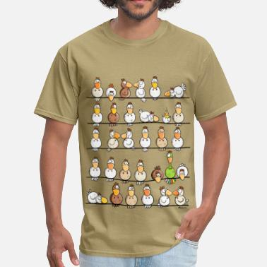 Cartoon Chicken Farm - Men's T-Shirt