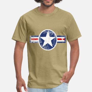 Corp Vintage Army Air Corps Patriotic Star - Men's T-Shirt