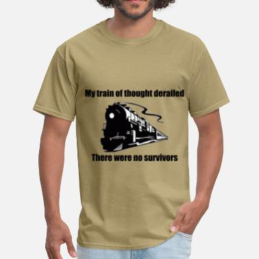 Train Wreck Train Of Thought - Men's T-Shirt