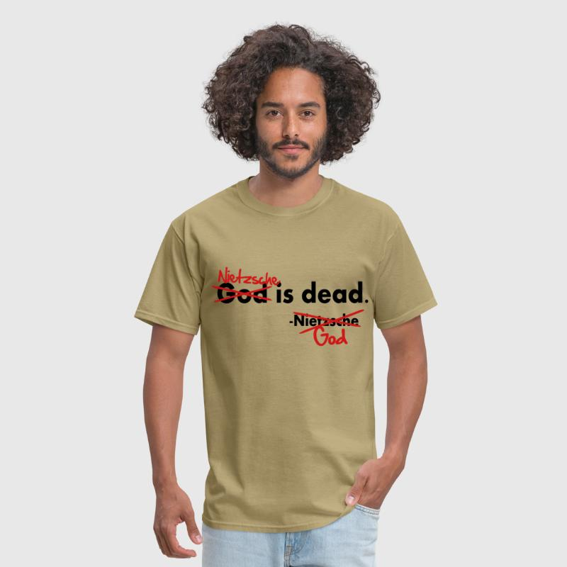 God / Nietzsche is dead. Vector Design - Men's T-Shirt