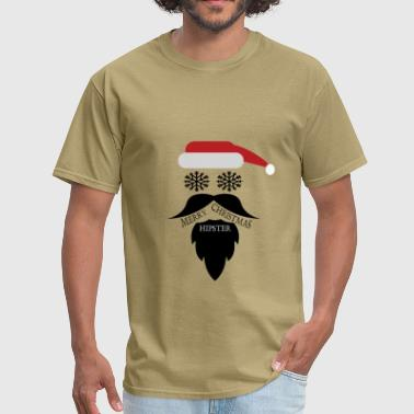 Hate Hipsters Hipster Christmas - Men's T-Shirt