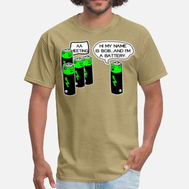 Aa Aa battery meeting - Men's T-Shirt