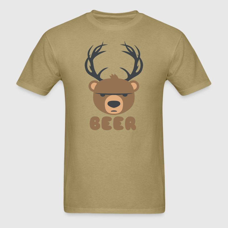 DEER BEAR BEER - Men's T-Shirt