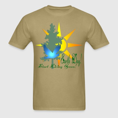 earthday_start_living_green - Men's T-Shirt