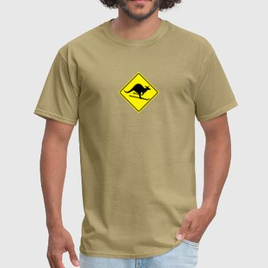 Kangaroo Jokes roadsign kangaroo - Men's T-Shirt