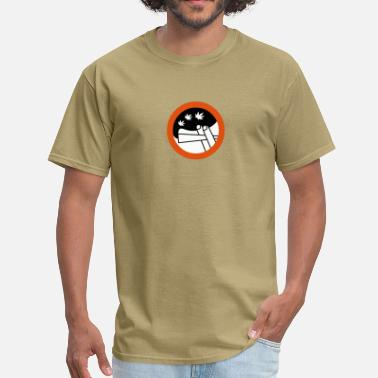Coffeeshop roadsign spliff - Men's T-Shirt