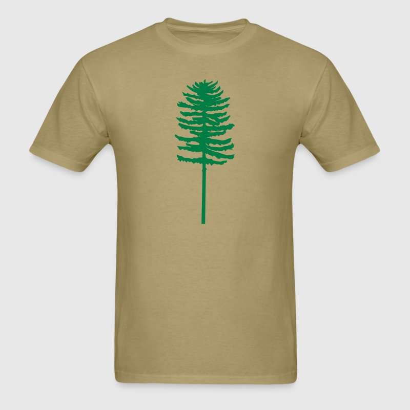 tall skinny green tree - Men's T-Shirt