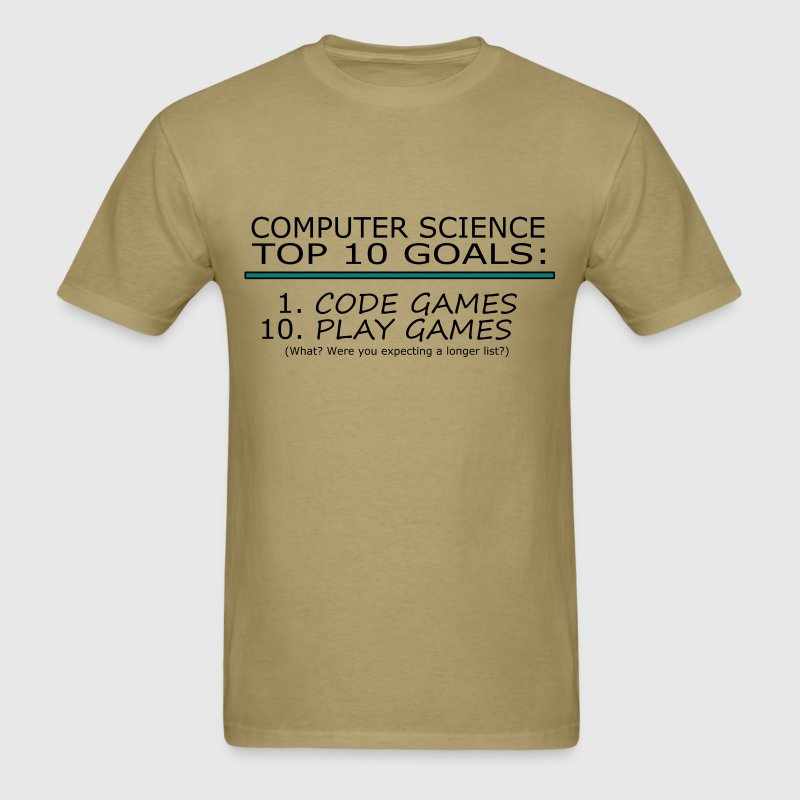 Computer Science Top 10 List - Men's T-Shirt