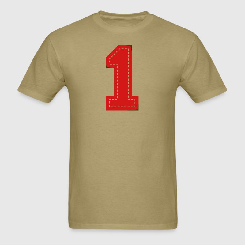 Number One Patch - Men's T-Shirt