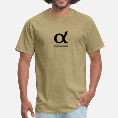 Funny Humor Sign Sex Symbol alphamale - Men's T-Shirt