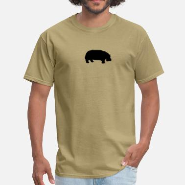 Silhouette hippo - Men's T-Shirt