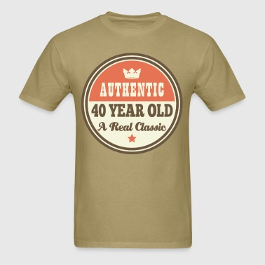 40th Birthday Funny Vintage Crown - Men's T-Shirt