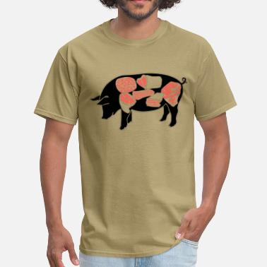 Cuts Of Pork Pork - Men's T-Shirt