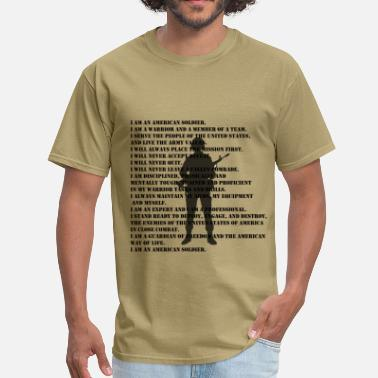 Us Army Veteran Army Soldier Creed - Men's T-Shirt