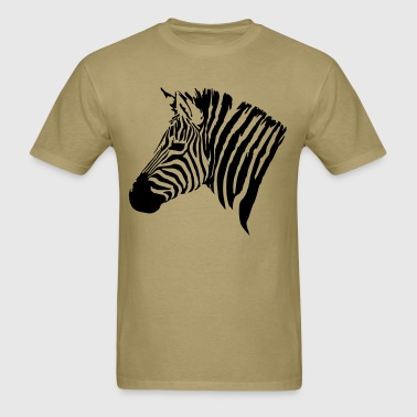 The head of the Zebra - Men's T-Shirt