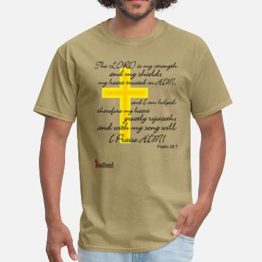 Gospel Psalms 28:7 - Men's T-Shirt