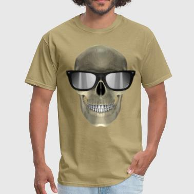 skull with glasses - Men's T-Shirt