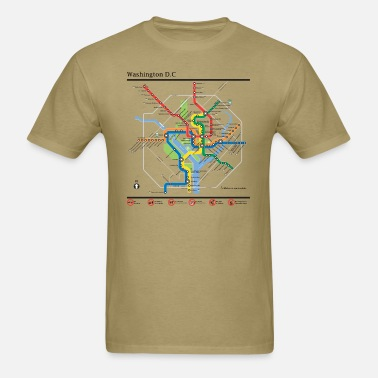 dad276a981d4 Washington DC underground map Men's T-Shirt | Spreadshirt