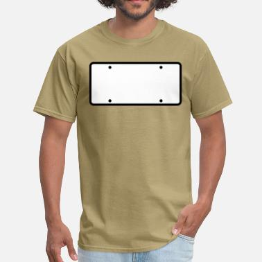 License Plate plain licence plate WRITE YOUR OWN - Men's T-Shirt