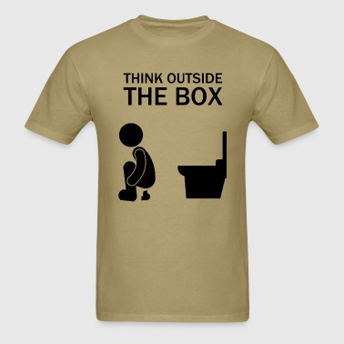 think_outside_the_box - Men's T-Shirt