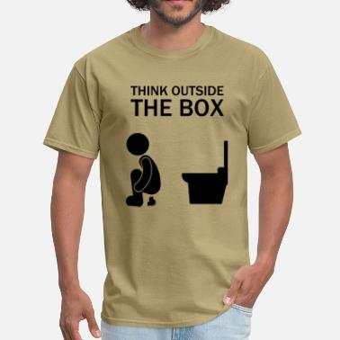 Box think_outside_the_box - Men's T-Shirt