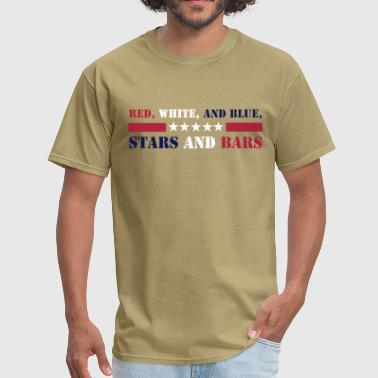 Star & Bar Stars and Bars - Men's T-Shirt