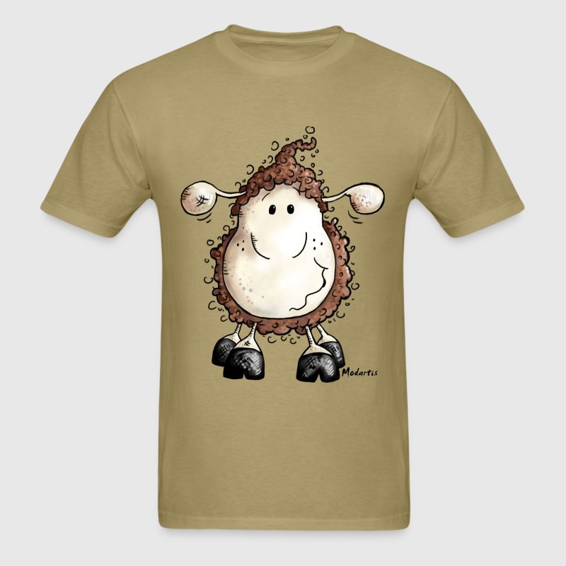 Crazy Cute Sheep Cartoon - Men's T-Shirt