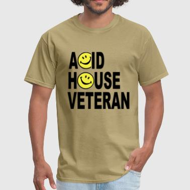 Acid House Veteran Smiley - Men's T-Shirt