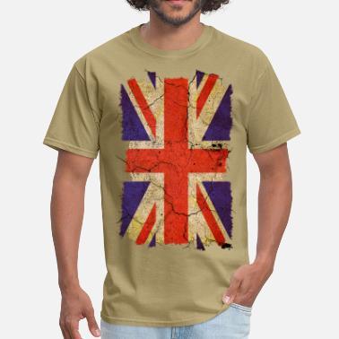 89e01af9 Vintage Union Jack Grunge Union Jack UK Flag T-Shirts - Men'