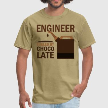 Engineer Fueled By Chocolate - Men's T-Shirt