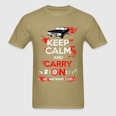 Supernatural - Keep calm and carry on - Men's T-Shirt