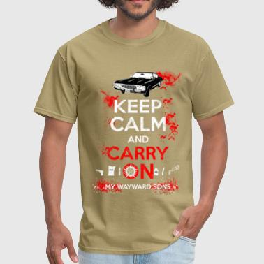 Supernatural Symbols Supernatural - Keep calm and carry on - Men's T-Shirt
