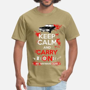 Supernatural Bobby Singer Supernatural - Keep calm and carry on - Men's T-Shirt