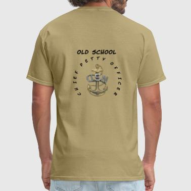 US Navy Old School CPO Chief Petty Officer Coffee  - Men's T-Shirt