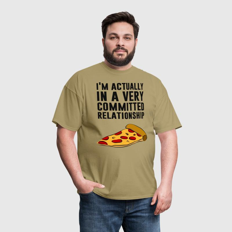 Pepperoni Pizza Love - A Serious Relationship - Men's T-Shirt