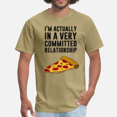 Pepperoni Pepperoni Pizza Love - A Serious Relationship - Men's T-Shirt