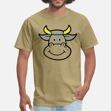 Cute Cow milk cow cute with horns - Men's T-Shirt