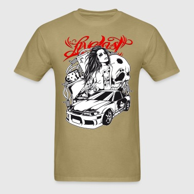 Live Fast - Sportscar Girl - Men's T-Shirt