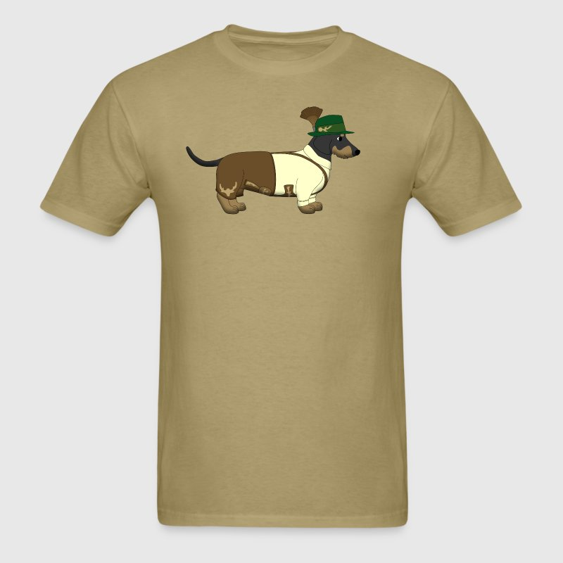 bavarian dachshound white - Men's T-Shirt