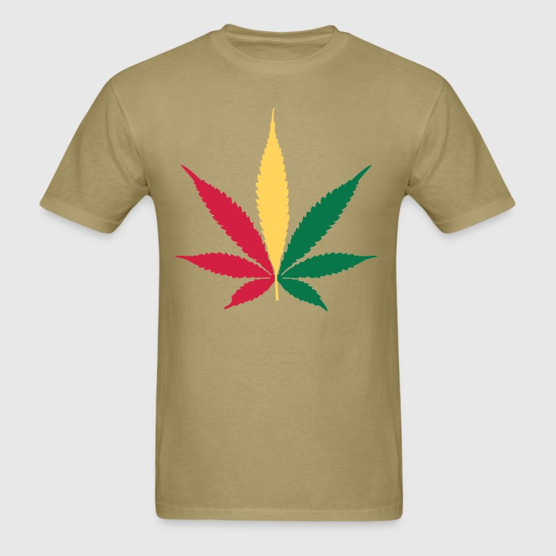 Rasta Pot Leaf - Men's T-Shirt