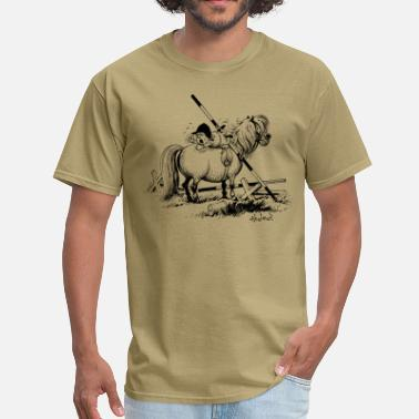 Show Jumping Thelwell Show Jumping Lazy Horse - Men's T-Shirt