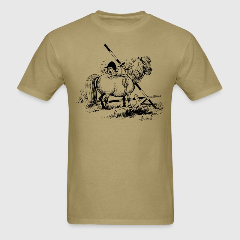 Thelwell Show Jumping Lazy Horse - Men's T-Shirt