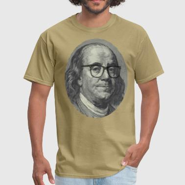 Hipster Ben Franklin - Men's T-Shirt